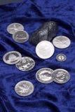 Monedas del metal Fotos de archivo libres de regalías