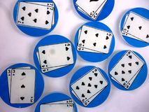 Monedas del póker Fotos de archivo