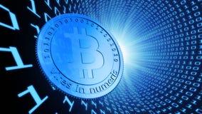 Monedas del pedazo, la moneda virtual Imagen de archivo libre de regalías
