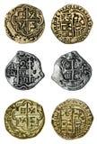 Monedas del pirata fotos de archivo libres de regalías