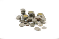 Monedas del THB Foto de archivo