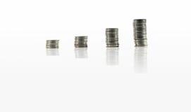 Monedas en aislado Imagen de archivo libre de regalías