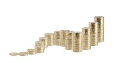 Monedas en blanco Fotos de archivo libres de regalías