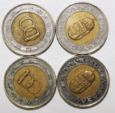 Monedas en blanco Fotografía de archivo