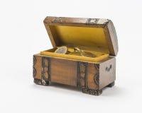 Monedas en la caja fotografía de archivo
