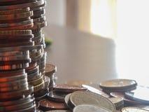 Monedas en moneda europea fotos de archivo