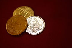 Monedas etíopes Imagenes de archivo