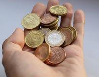 Monedas euro Imagen de archivo libre de regalías