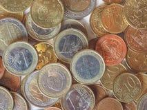 Monedas euro Foto de archivo libre de regalías