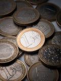 Monedas euro Fotografía de archivo libre de regalías