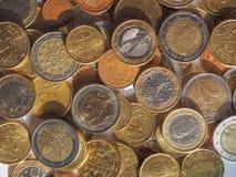 Monedas euro Fotos de archivo