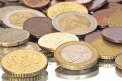 Monedas euro de Europa Fotografía de archivo libre de regalías