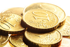 Monedas euro del centavo Imagenes de archivo