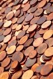 Monedas euro del centavo Imágenes de archivo libres de regalías