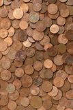 Monedas euro del centavo para la buena suerte Imagen de archivo libre de regalías