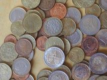 Monedas euro, unión europea Imagenes de archivo