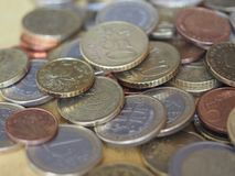 Monedas euro, unión europea Fotografía de archivo libre de regalías