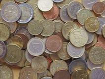 Monedas euro, unión europea Imagen de archivo libre de regalías