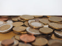 Monedas euro, unión europea Imágenes de archivo libres de regalías