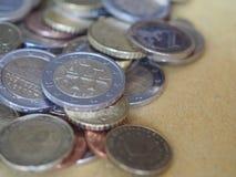 Monedas euro, unión europea Imagen de archivo