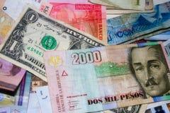 Monedas extranjeras del International Imagen de archivo