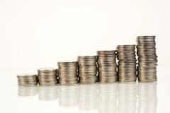 Monedas - finanzas Fotografía de archivo libre de regalías