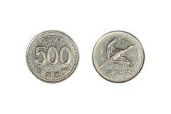Monedas ganadas surcoreanas fotografía de archivo