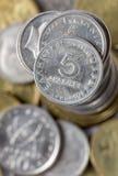 Monedas griegas del dracma Foto de archivo libre de regalías