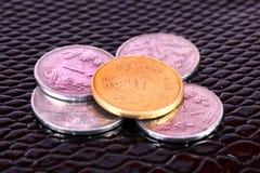 Monedas indias de la moneda foto de archivo libre de regalías
