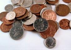 Monedas inglesas, Reino Unido Imagen de archivo libre de regalías