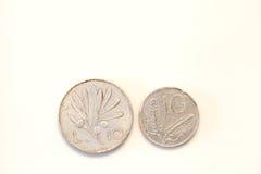 Monedas italianas viejas foto de archivo libre de regalías