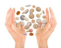 Monedas mágicas Foto de archivo libre de regalías
