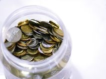 Monedas malasias fotos de archivo