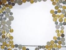 Monedas malasias imágenes de archivo libres de regalías