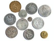 Monedas medievales Imagenes de archivo