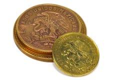 Monedas mexicanas foto de archivo libre de regalías