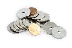 Monedas noruegas Imagen de archivo libre de regalías