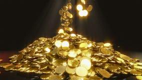 Monedas que caen ilustración del vector