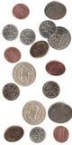 Monedas que caen de los E.E.U.U. Fotografía de archivo libre de regalías