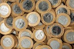 Monedas reales del brasileño 1 fotografía de archivo