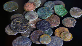Monedas romanas imagen de archivo