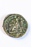 Monedas romanas Monedas viejas raro histórico Imagen de archivo libre de regalías