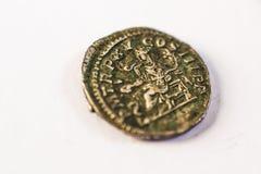 Monedas romanas Monedas viejas raro histórico Imagenes de archivo