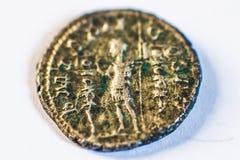 Monedas romanas Monedas viejas raro histórico Foto de archivo