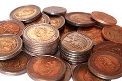 Monedas surafricanas imagen de archivo