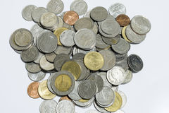 Monedas tailandesas del baht Fotos de archivo libres de regalías