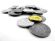 Monedas tailandesas del ` s Fotografía de archivo