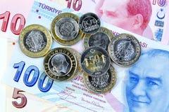 Monedas turcas fotos de archivo libres de regalías