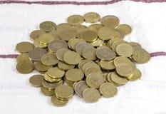 Monedas turcas de la lira Fotos de archivo