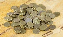 Monedas turcas de la lira Imágenes de archivo libres de regalías